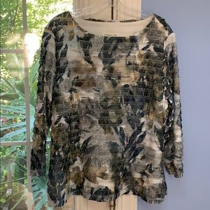 Tops - Coldwater Creek top layered to flatter $14